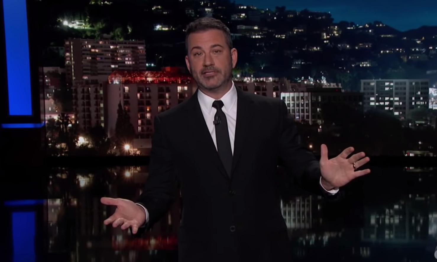 Jimmy Kimmel: Trump handling impeachment 'about as well as you expect, which is badly'