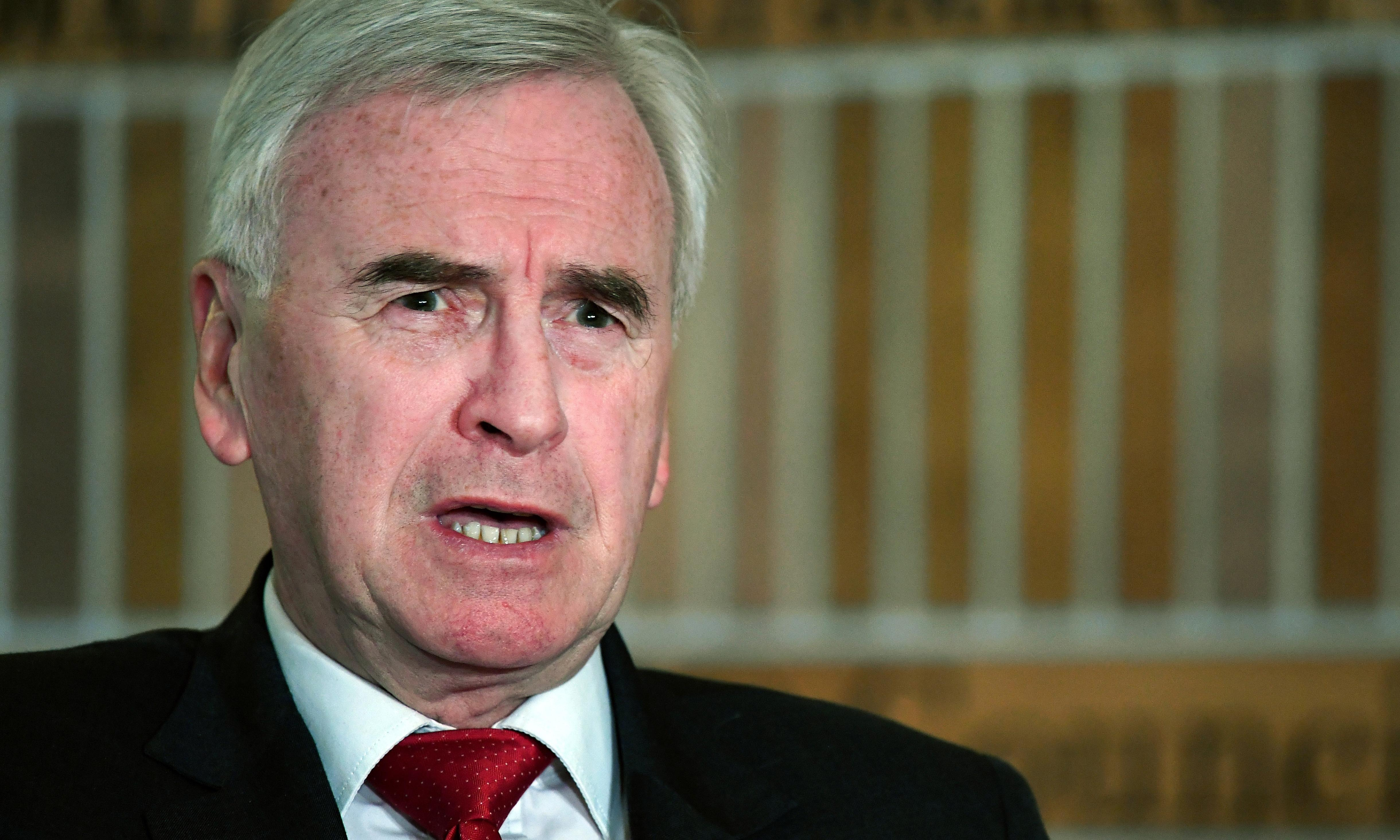 Labour will call for no-confidence motion in next Tory PM, McDonnell says