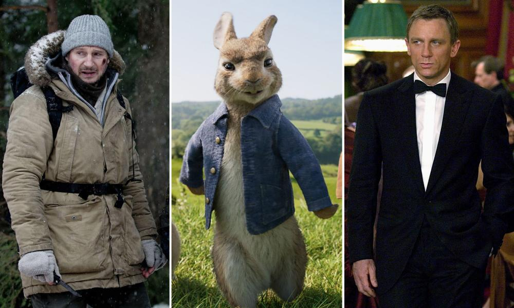 Liam Neeson in The Grey, Peter Rabbit and Daniel Craig in Casino Royale: films that spurred a serious backlash.