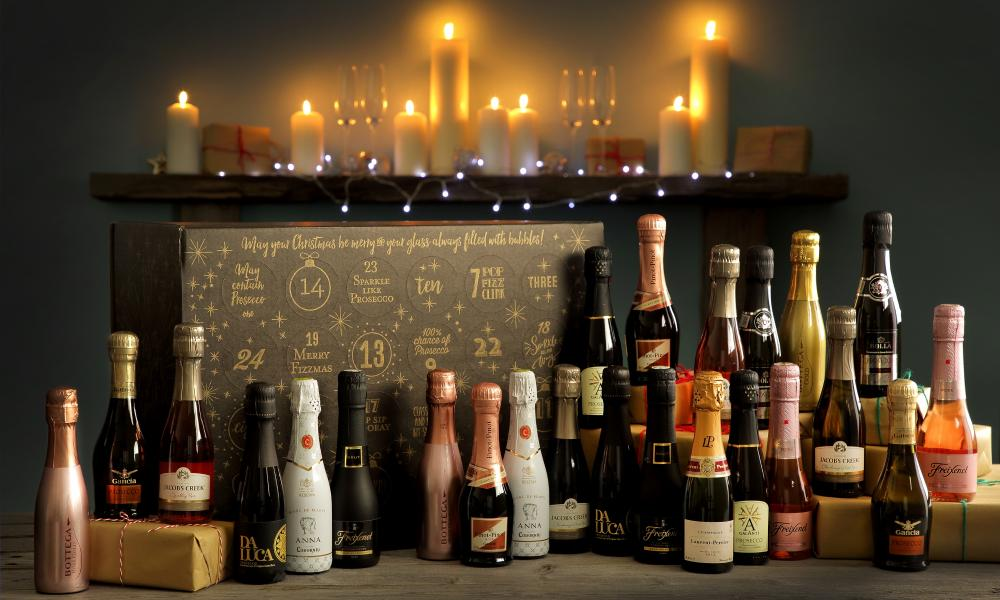 Christmas sparkle: The Pip Stop's prosecco and cava advent calendar.