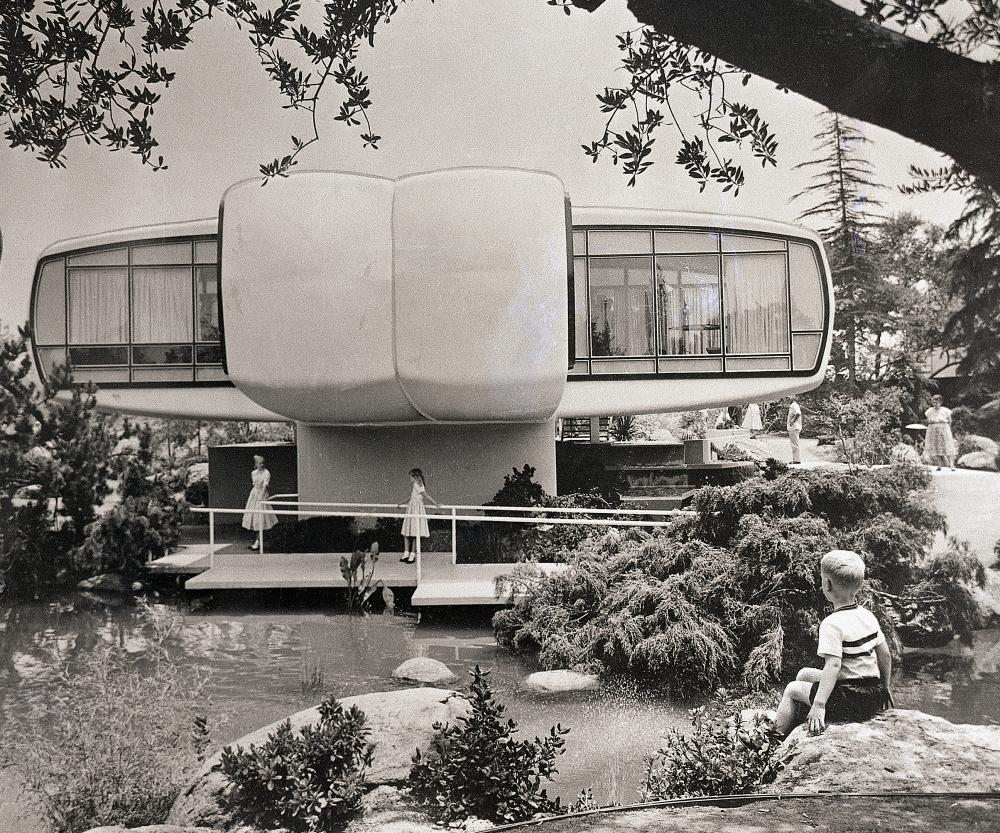 House of the Future, built by Monsanto at Disneyland in 1957.