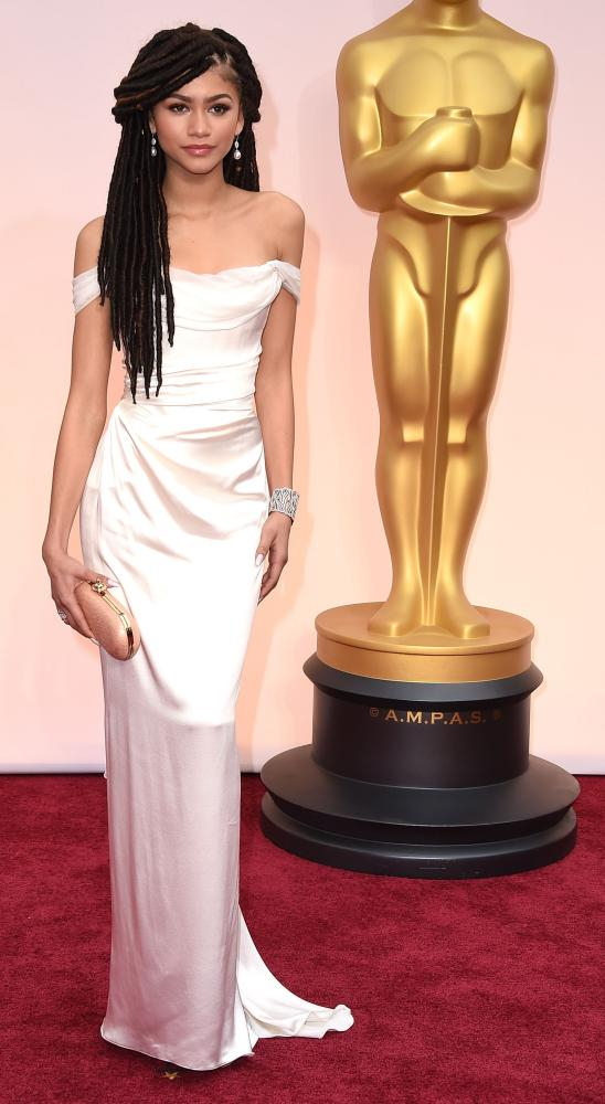 87th Annual Academy Awards - Arrivals HOLLYWOOD, CA - FEBRUARY 22: Zendaya arrives at the 87th Annual Academy Awards at Hollywood & Highland Center on February 22, 2015 in Hollywood, California
