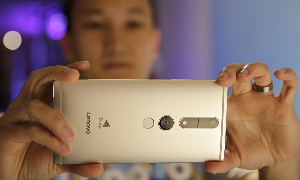 Lenovo launches smartphone that senses spaces with ...