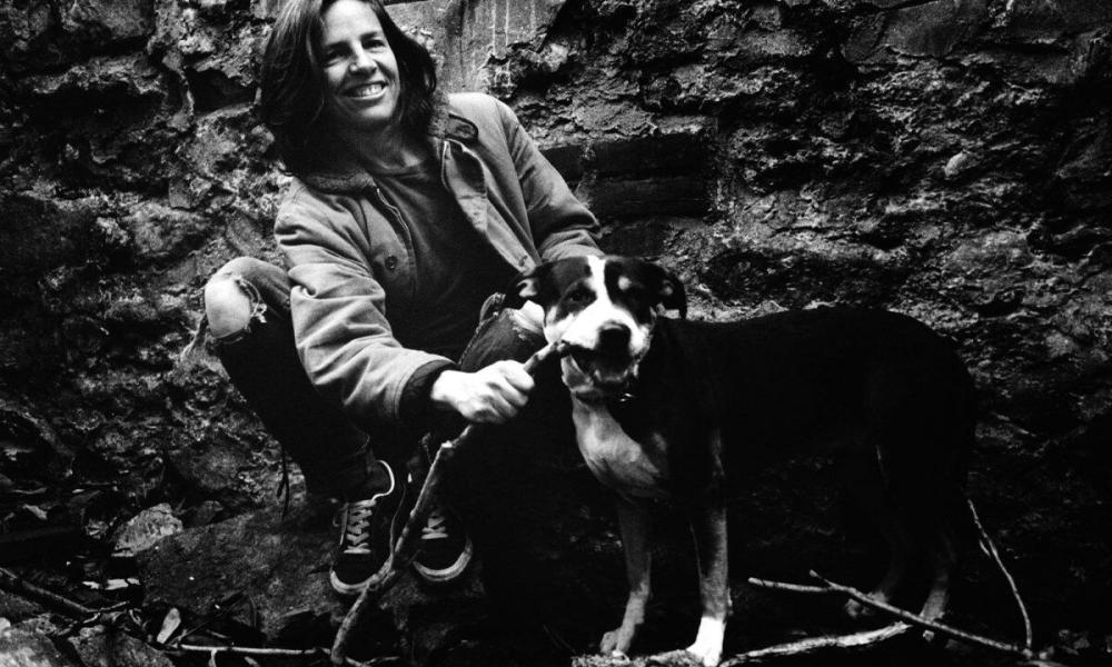 Woman's best friend: Eileen Myles and her pit bull terrier Rosie in 1994.