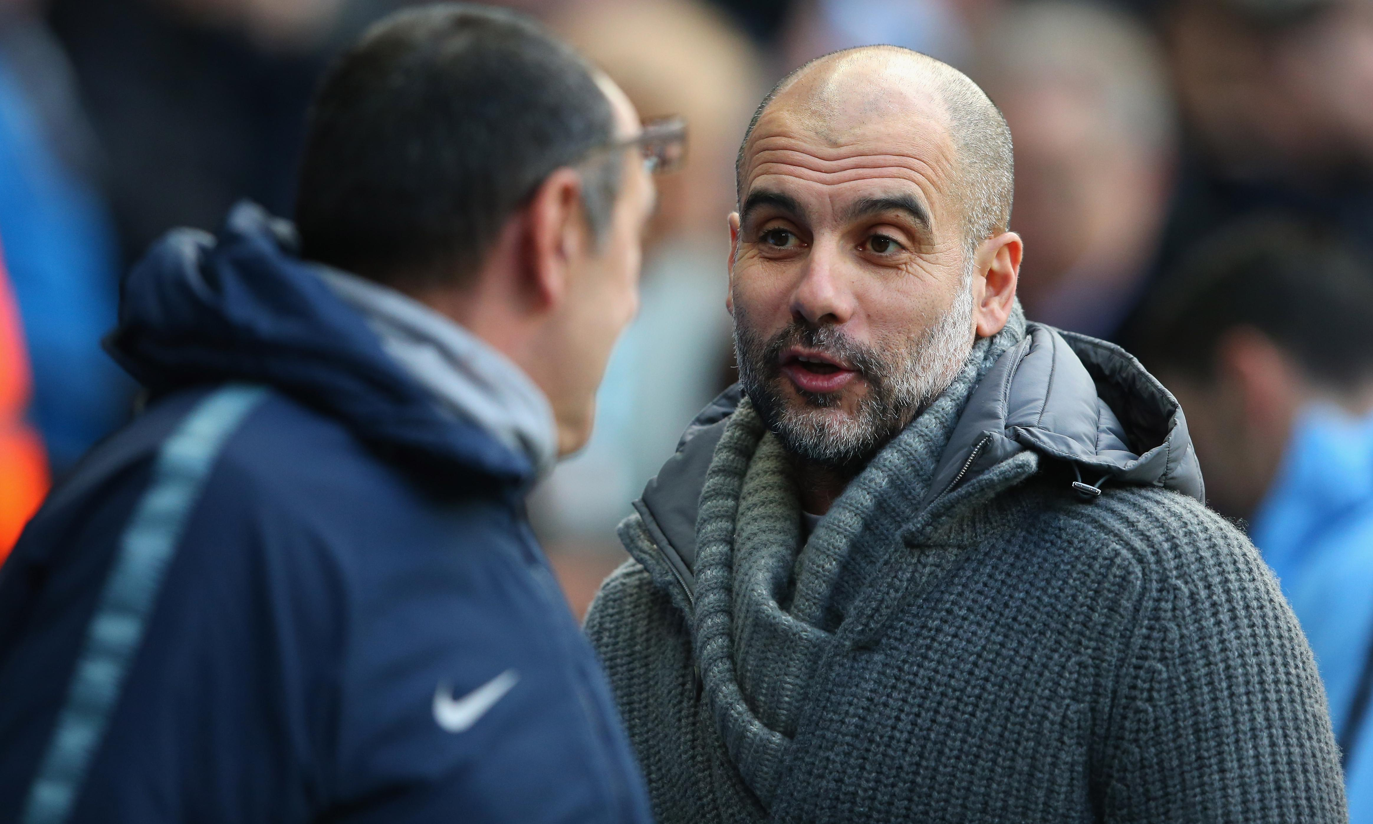 I never feared sack at Manchester City like Sarri does at Chelsea, says Guardiola