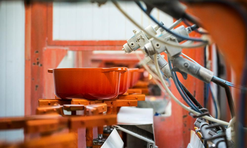 The Le Creuset foundry at Fresnoy-le-Grand in Franc.