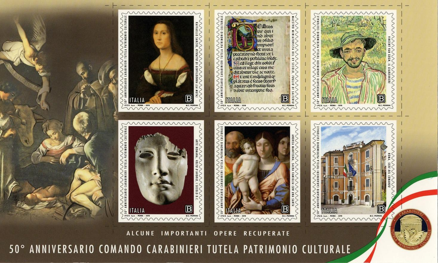 Italian stamps showcase artworks recovered by its 'monuments men'