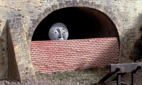 Henry, bricked up in a tunnel