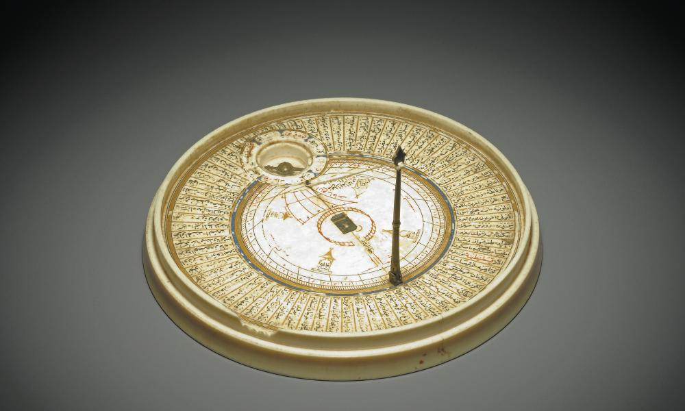 A Qibla indicator designed to locate the direction of Mecca, made in Egypt in 1582-83.