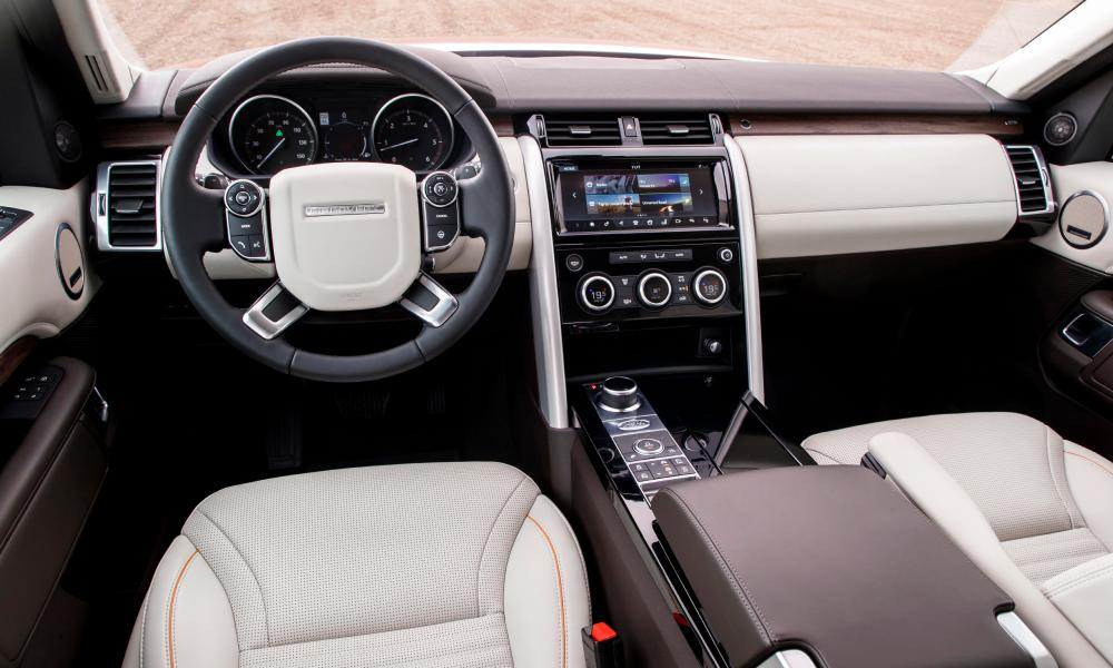 Inside story: the luxurious interior of the Discovery with its excellent touchscreen interface