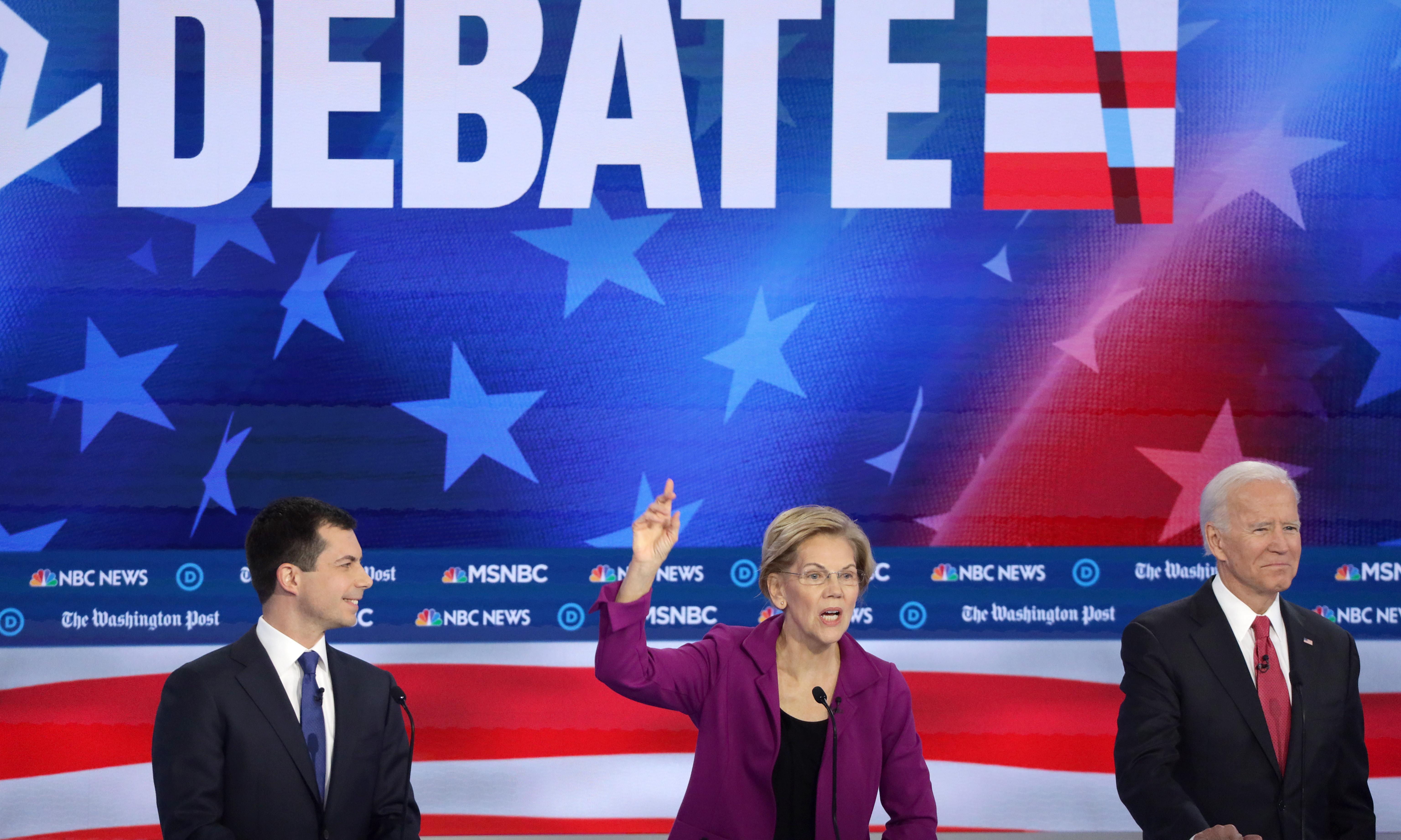 Democratic 2020 hopefuls tear into 'criminal' Trump at debate