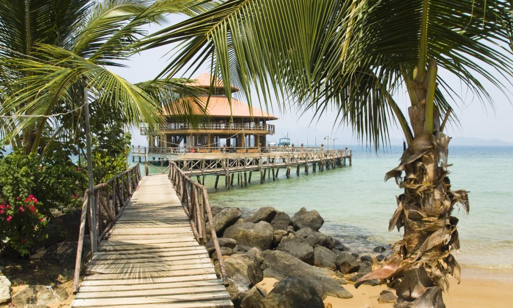 Pier on the island Koh Wai.