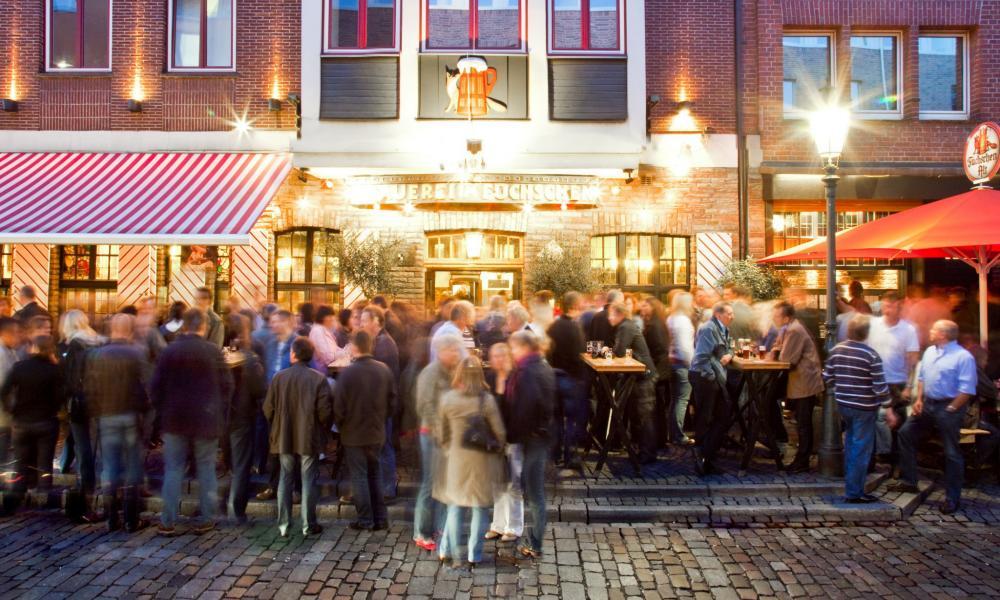 Füchschen Brewery and Restaurant, Dusseldorf, Germany