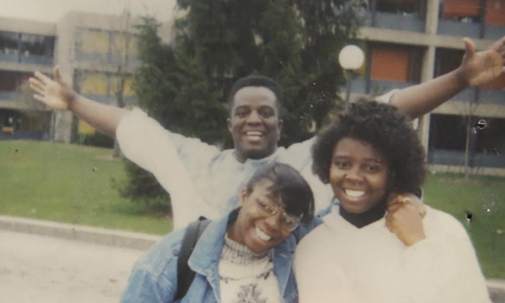William Ford Jr with sister Lauren (front left) and Yance (front right).