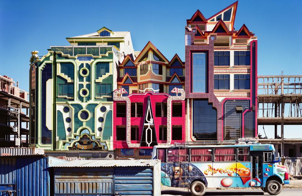 Mamani's design's in El Alto, Bolivia.