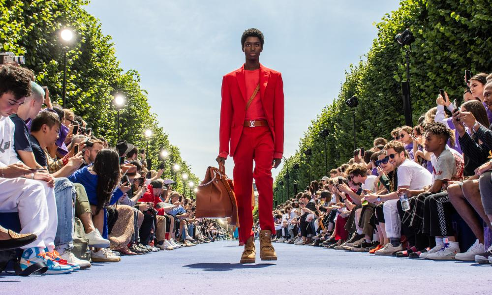 Red alert: Louis Vuitton Menswear SS19 at Paris Fashion Week.