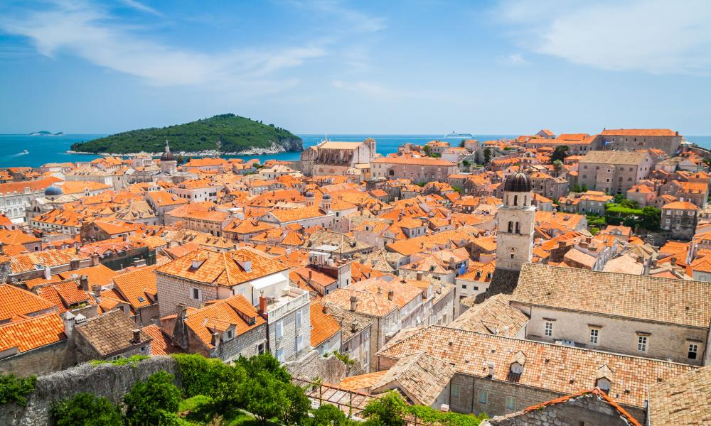 Night on the tiles: roofs of Dubrovnik's old town.