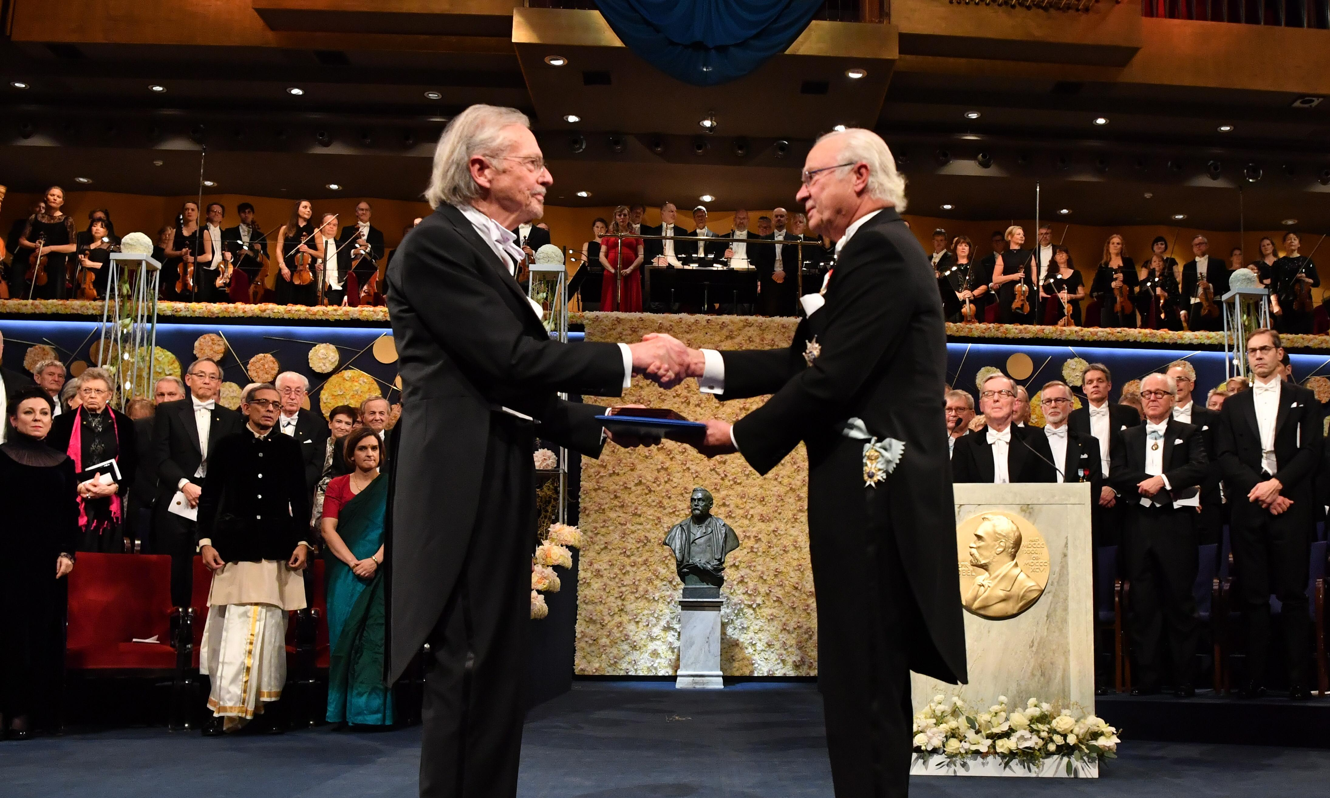 Protests grow as Peter Handke receives Nobel medal in Sweden