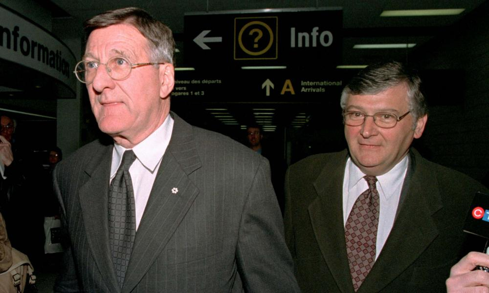 Ex-hockey czar Alan Eagleson, left, pleaded guilty to three counts of mail fraud.