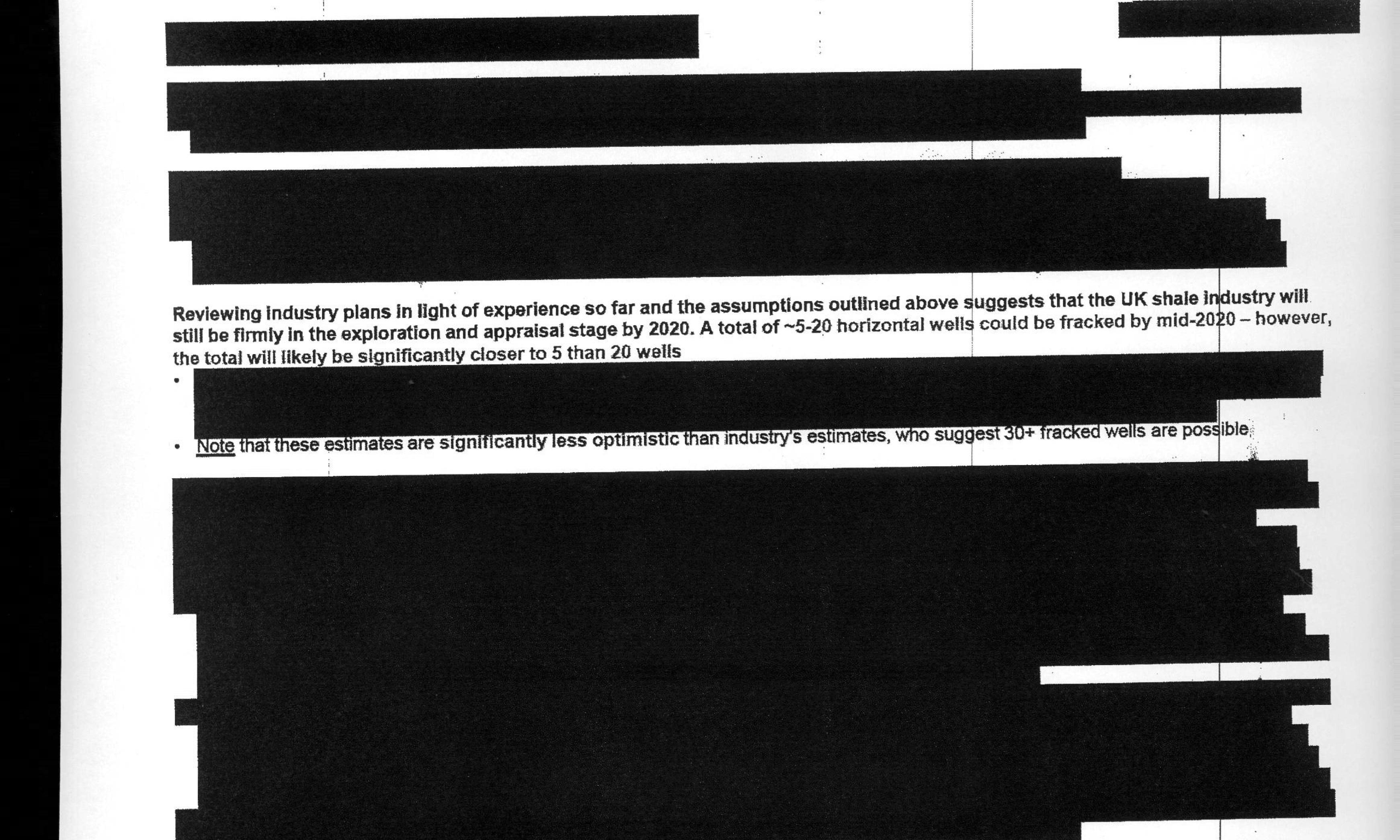 'Black wall' of redacted pages as UK fracking report finally released