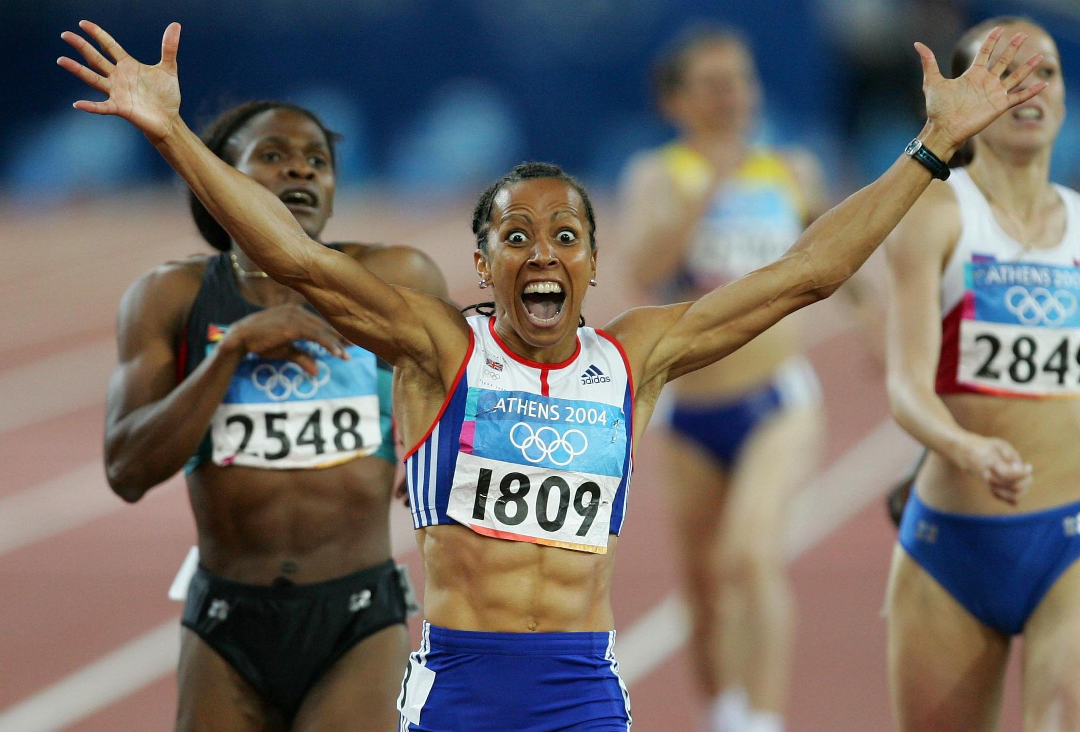 Buy a classic sport photograph: Kelly Holmes' eye-popping celebration