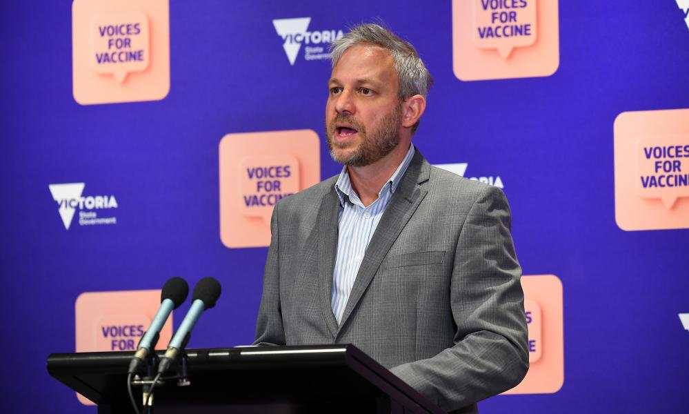 Victorian chief health officer Brett Sutton speaks to the media in Melbourne, Friday, 8 October 2021.