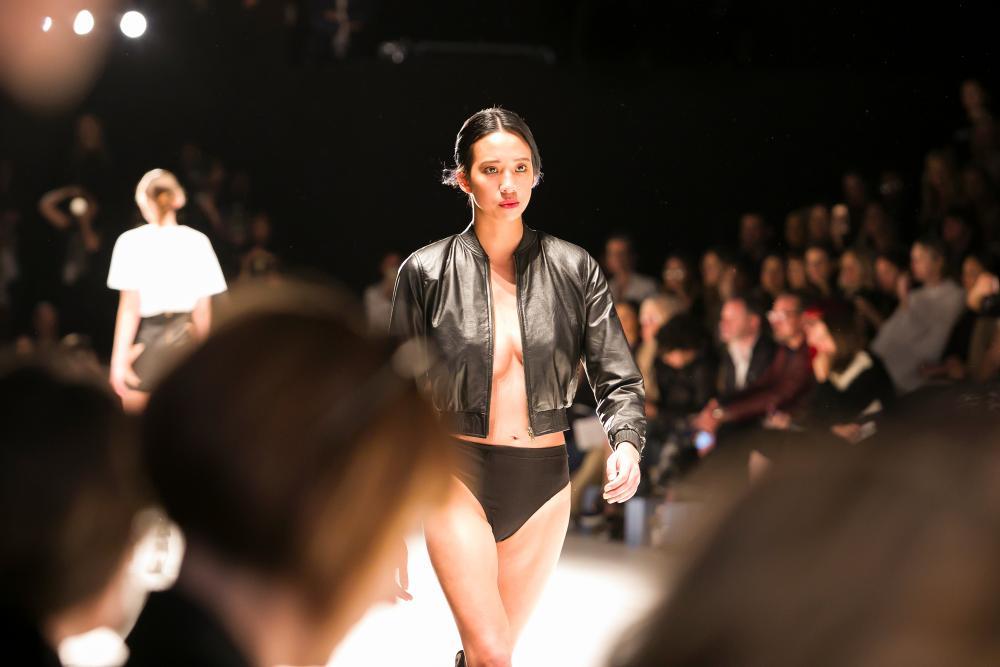 Raenee Sydney on the catwalk.