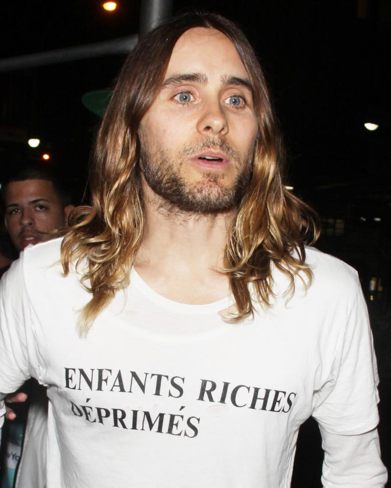 Jared Leto in an Enfant Riches Déprimés t-shirt in 2013.
