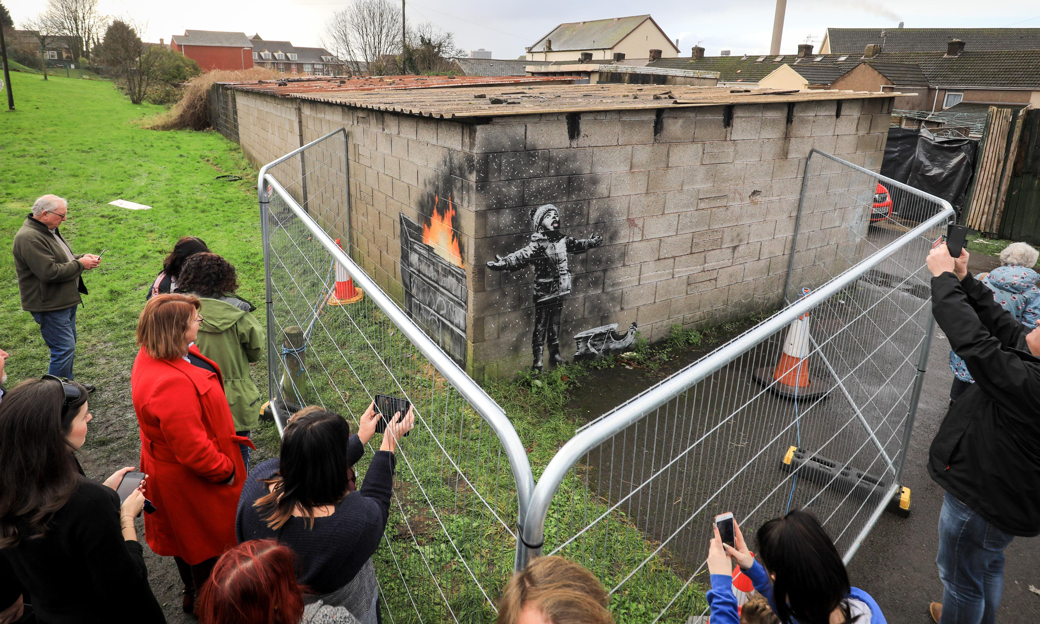 Port Talbot's Banksy to be moved to new street art museum