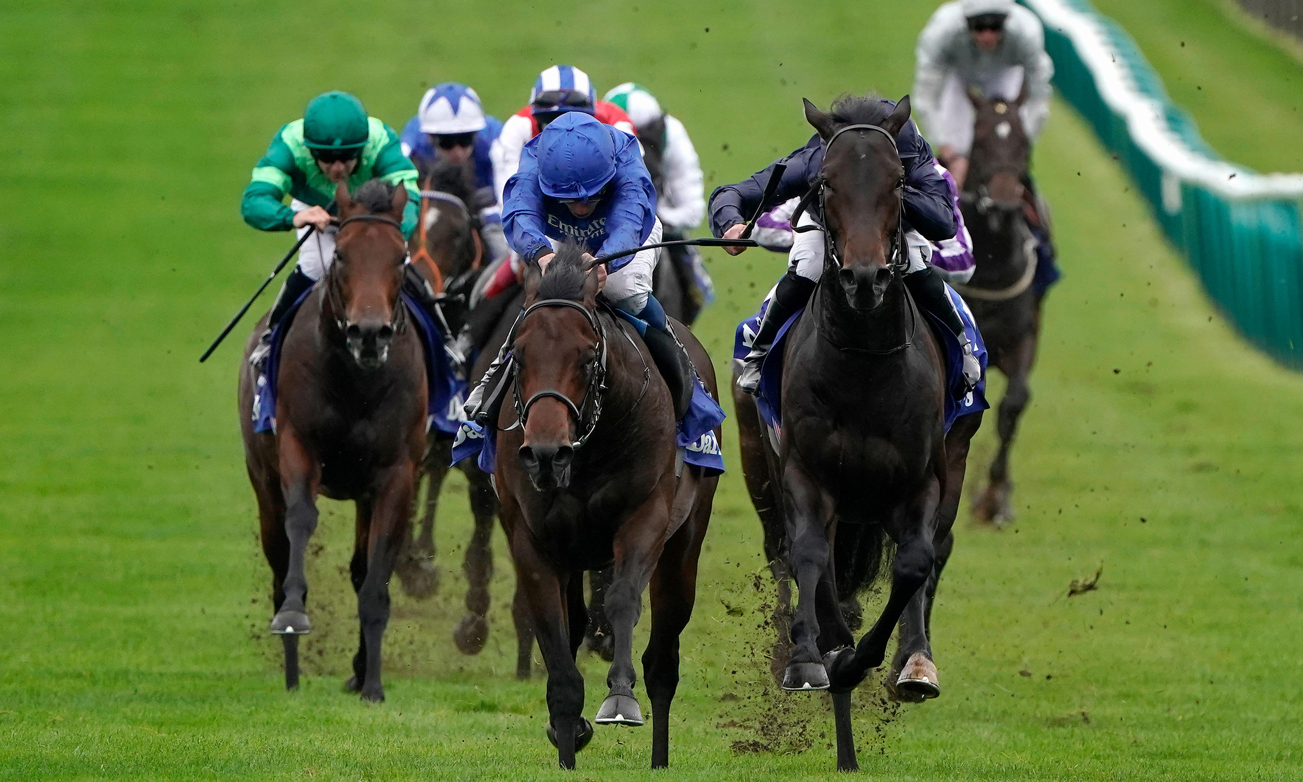 Relief and elation as Pinatubo stays unbeaten with Dewhurst win