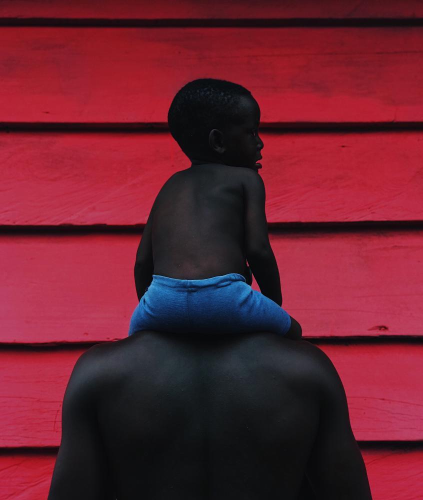 FATHERHOOD by the Ghanian artist Prince Gyasi.