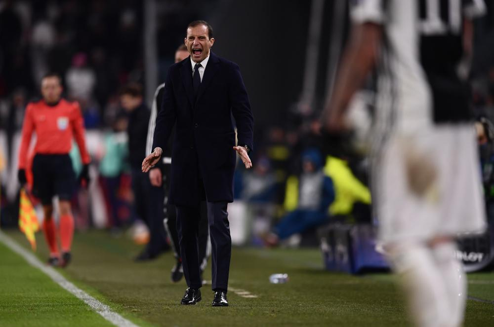 Frustration for Massimiliano Allegri.