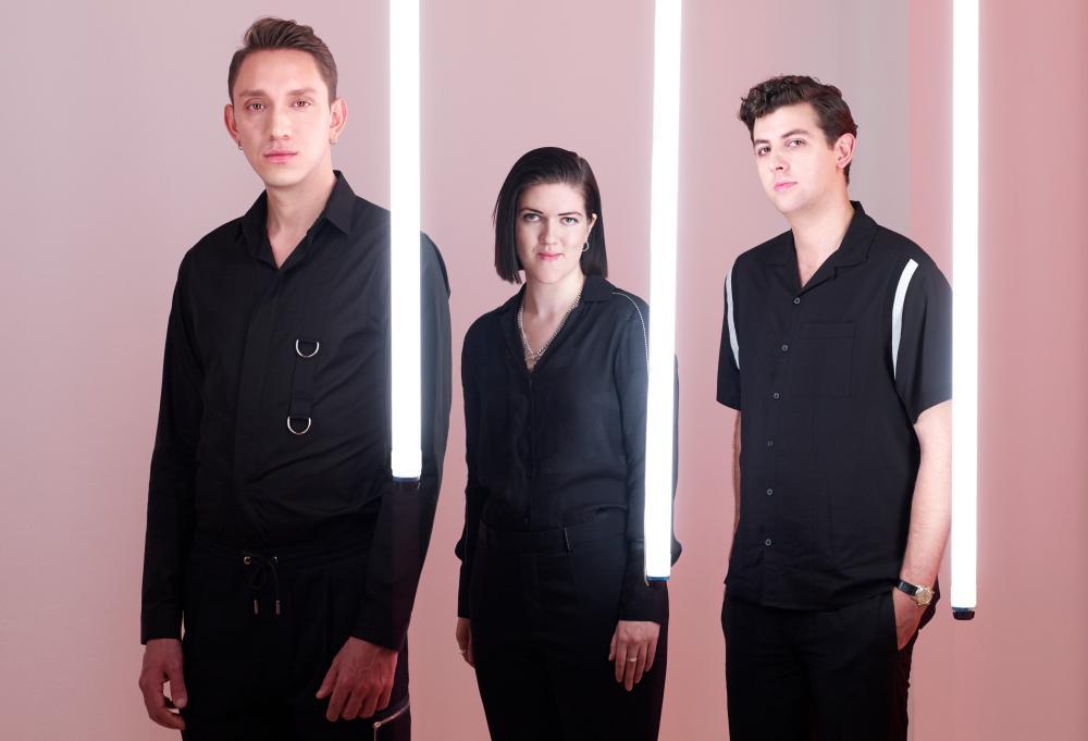 The xx … (from left) Oliver Sim, Romy Madley Croft, Jamie xx.