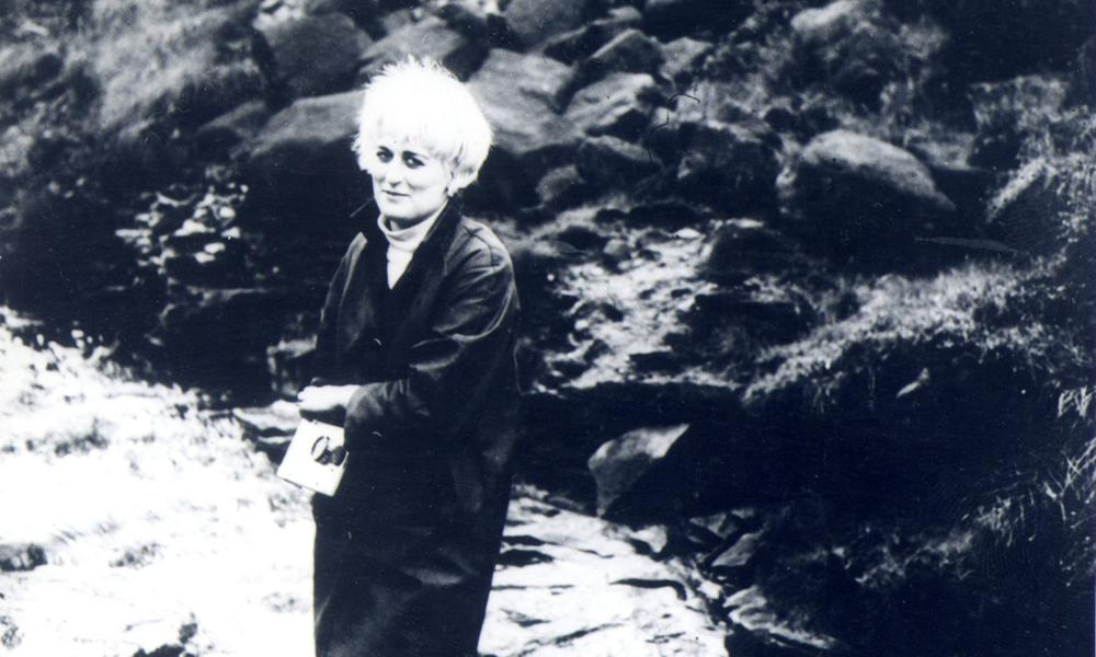 Myra Hindley on the moors in a photograph taken by Brady