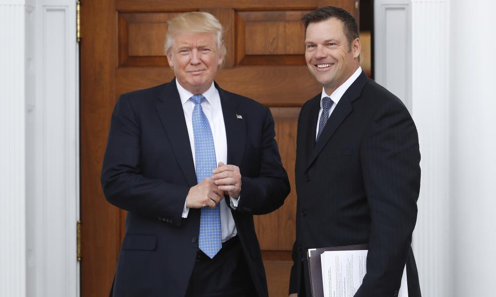 Donald Trump and Kris Kobach's talk of voter fraud 'is the lie used to justify voter suppression techniques'.