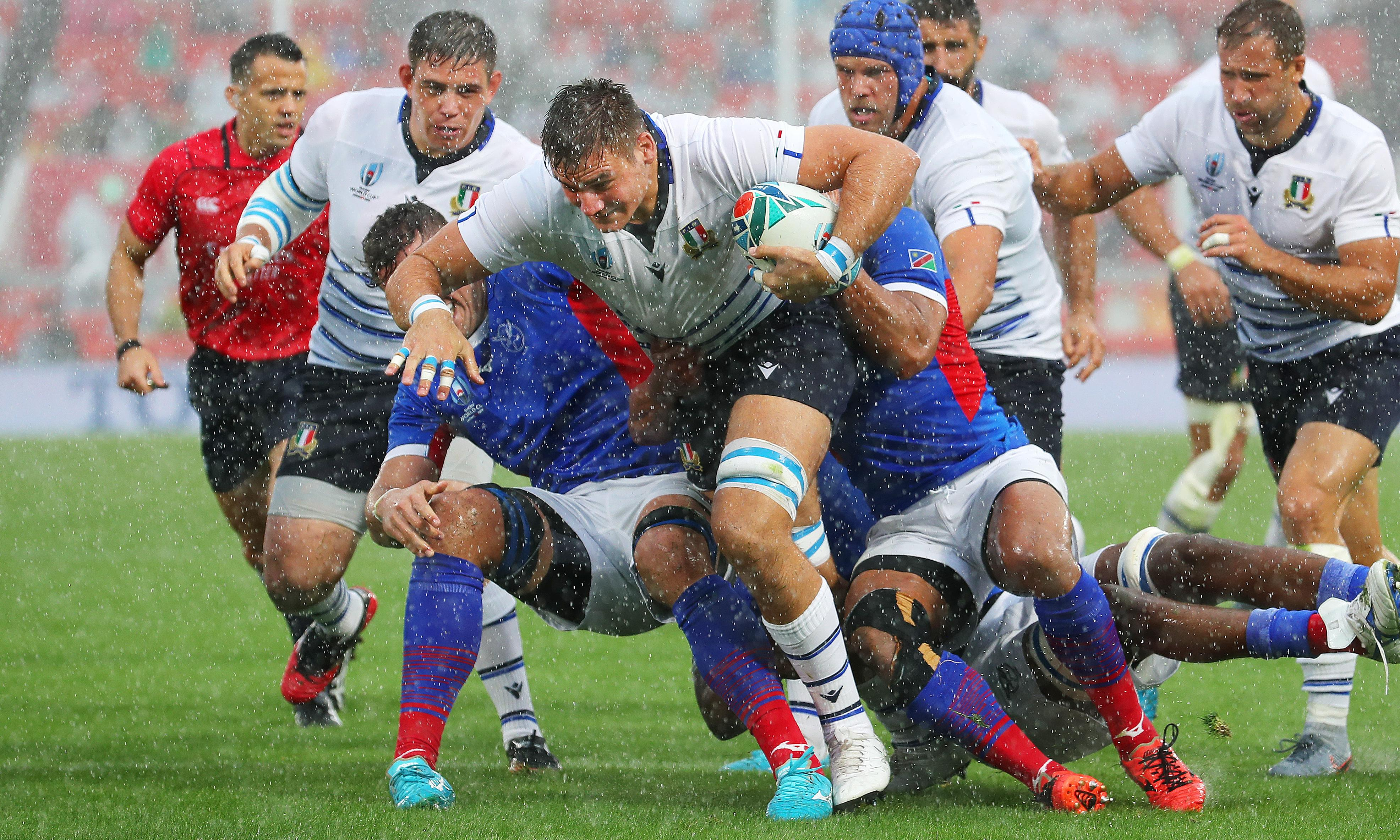 Italy overcome early scare to beat spirited Namibia in Rugby World Cup