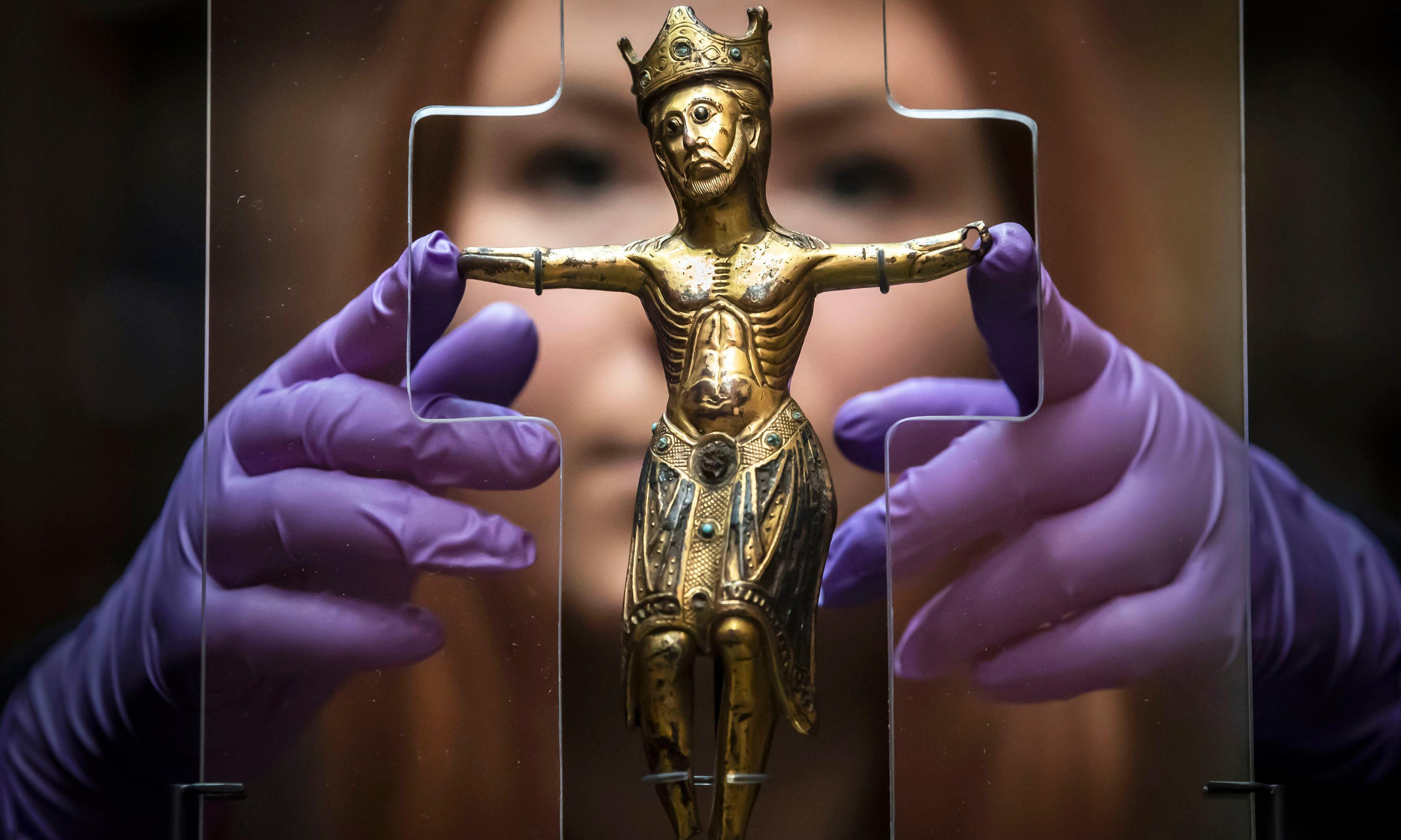 'Exquisite' 800-year-old Christ figure displayed in its spiritual home