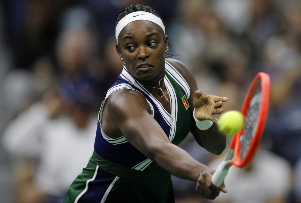 Sloane Stephens in action during the US Open.
