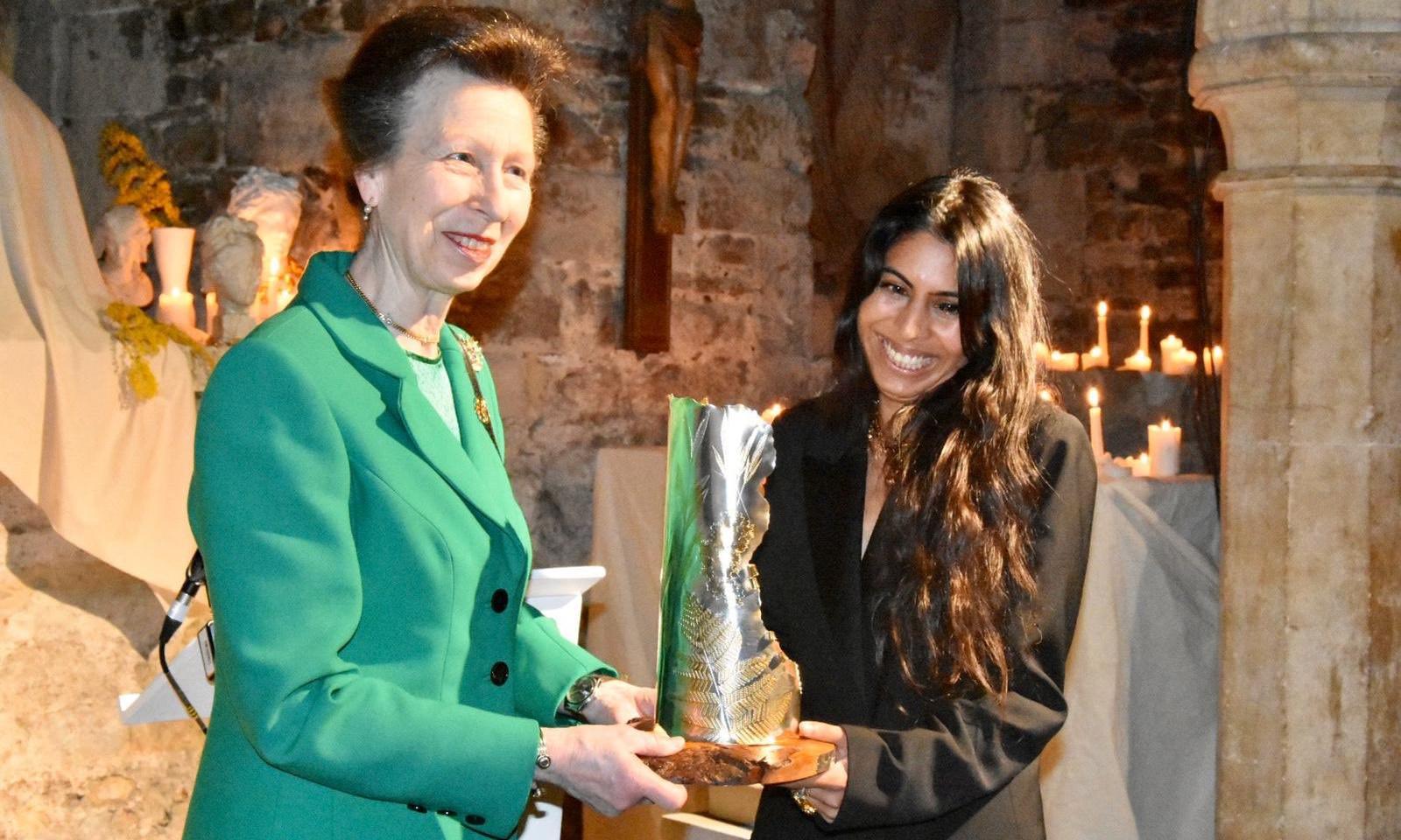 Princess Anne closes London fashion week with royal award