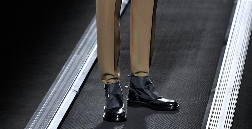 Dior dress shoes with waterproof ankle-bands.