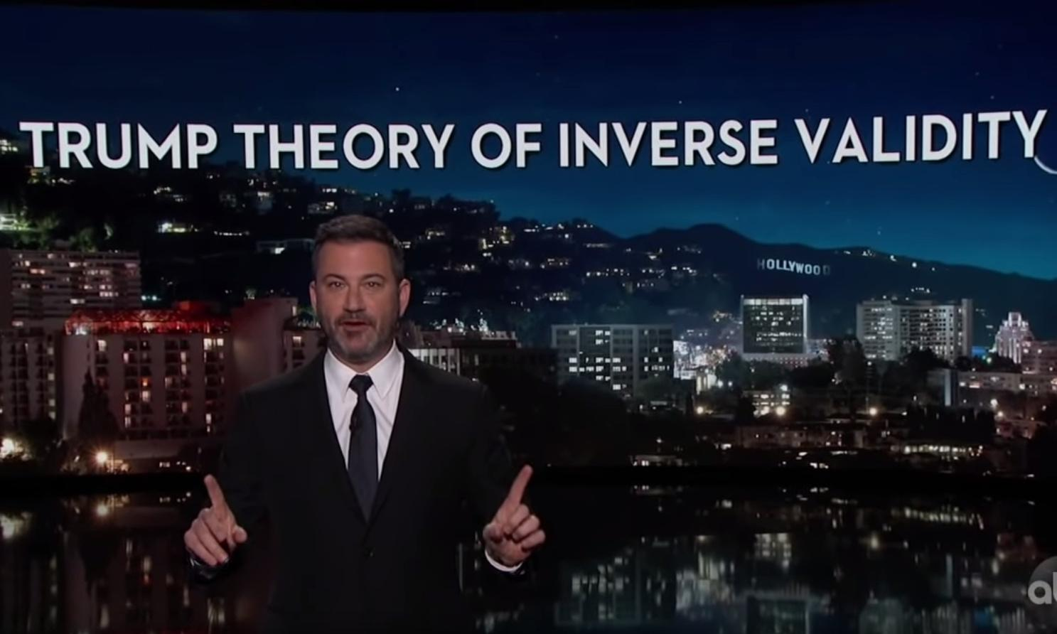 Jimmy Kimmel: for Trump, 'things that are true are false'