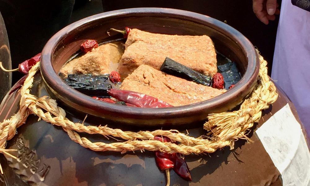 Gochujang ferments in a jar for months.