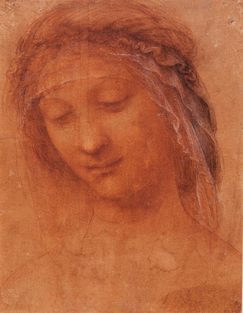 Hits you like a thunderbolt … Head of the Madonna, by Leonardo da Vinci.