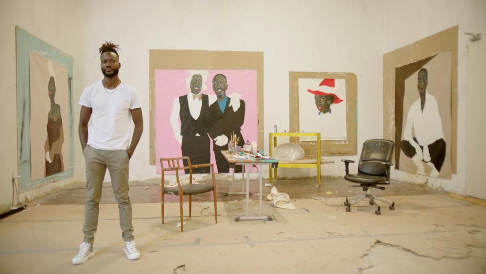 Boafo in his studio.