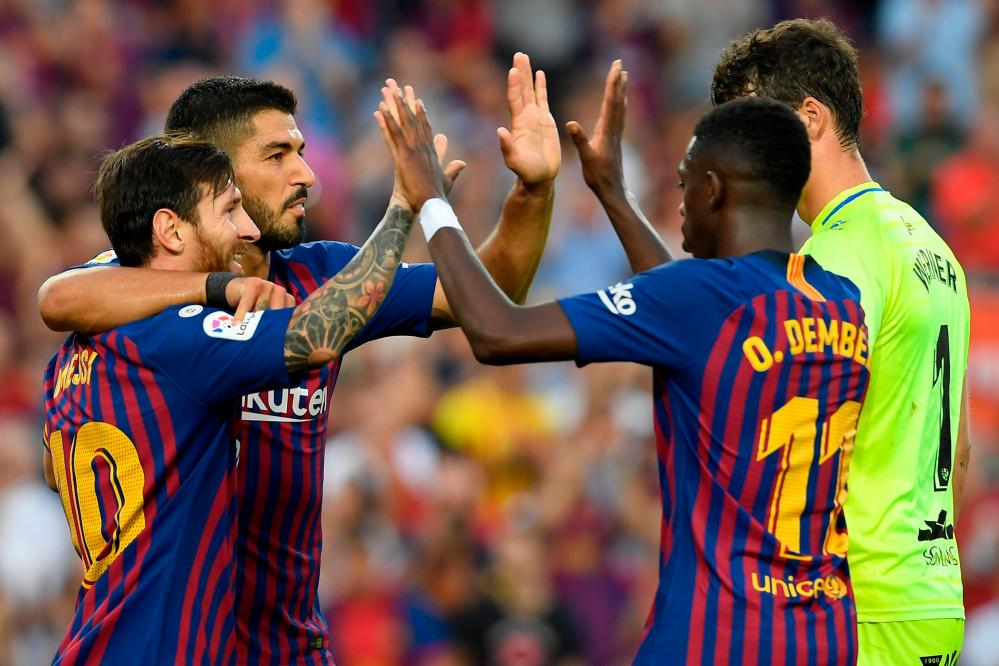 Barcelona on their way to routing Huesca.