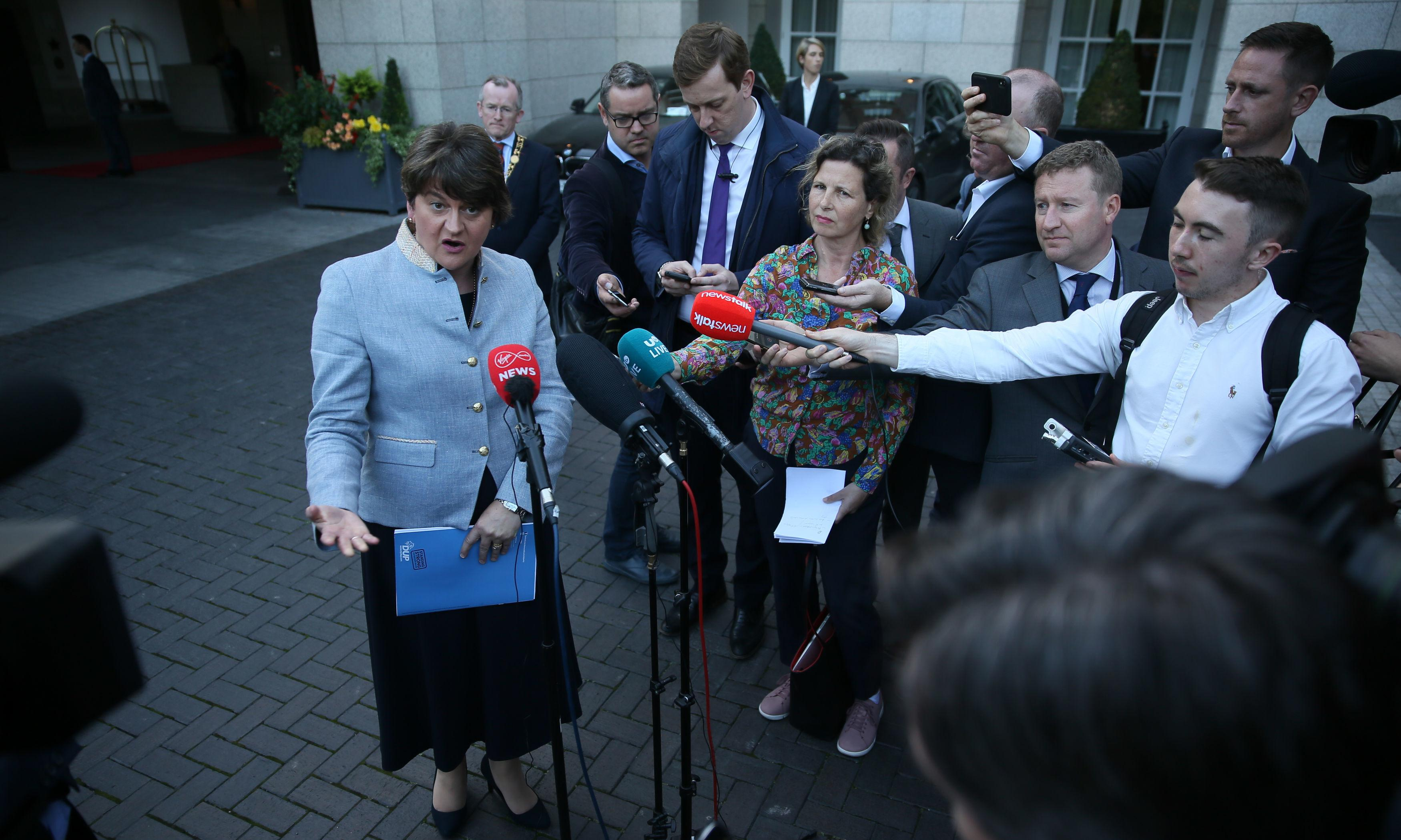 Arlene Foster signals DUP shift on Northern Ireland border issue