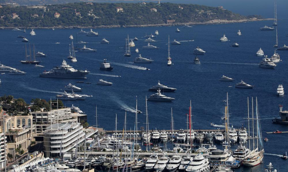 Superyachts in the harbour at Monte Carlo.