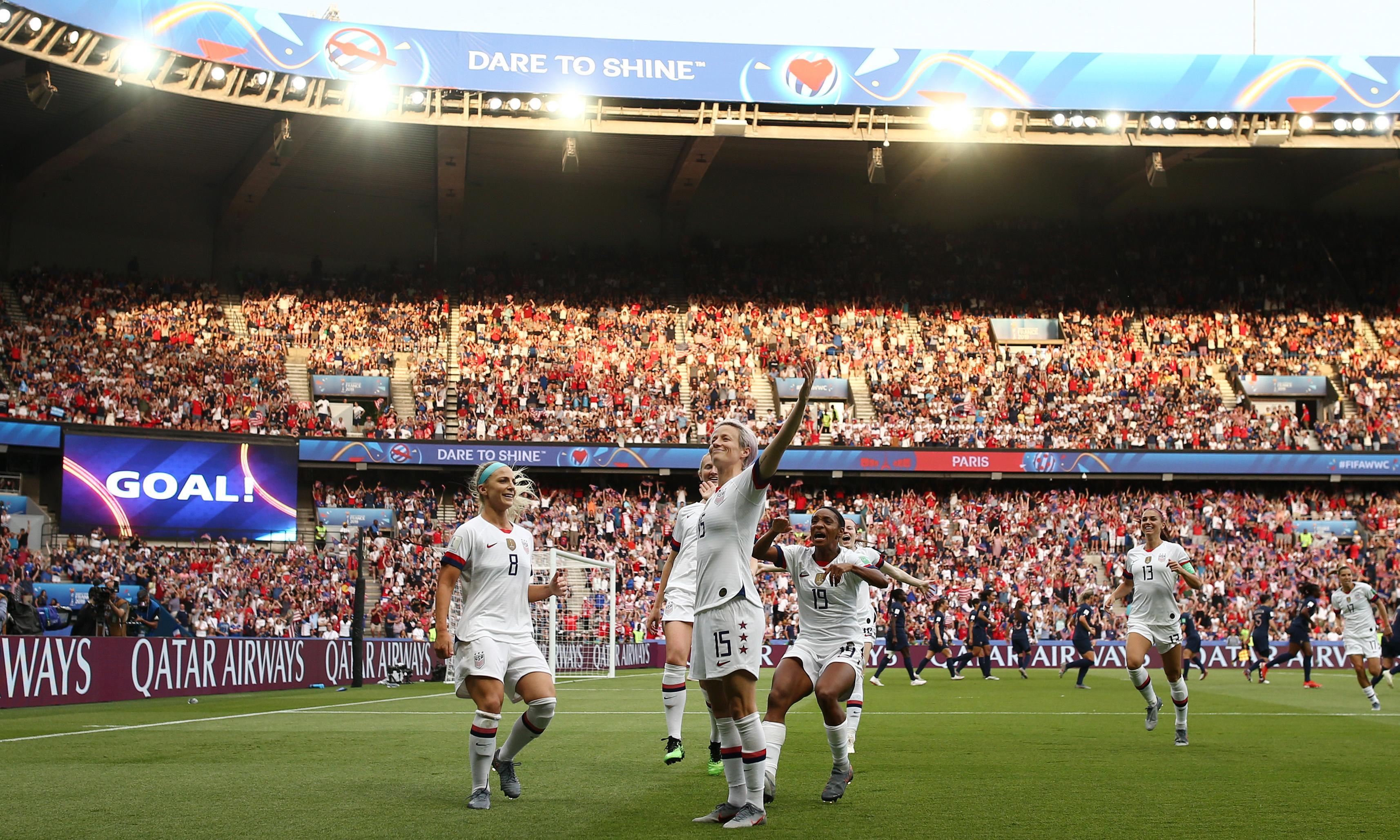 Megan Rapinoe double sends USA past France and into England semi-final