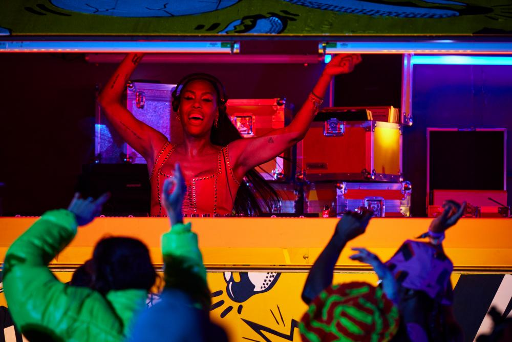Honey Dijon plays a set from a bus designed by Block9.