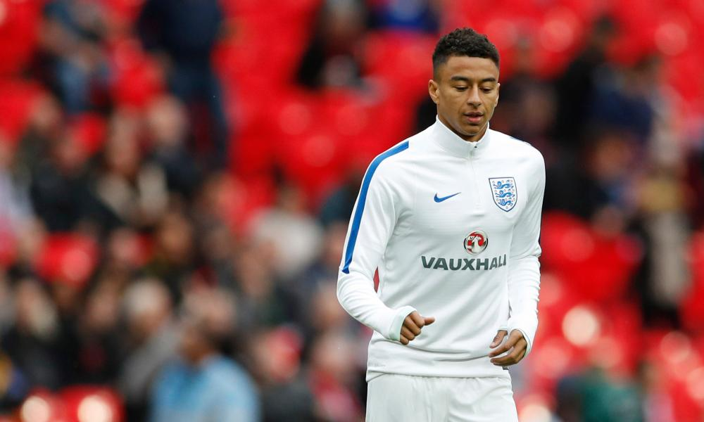 Jesse Lingard will make his full England debut.